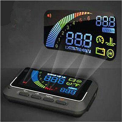 New Universal OBDII HUD Vehicle-mounted Head Up Display System Safe Driving AU