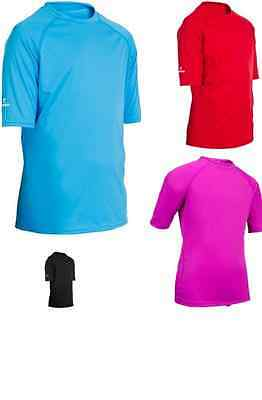 Tribord  Boys Girls  Uv Sun Protection Rash Vest Top Water T-Shirt Loose Fit New