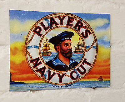 Players Navy Cut pub bar Sign Retro metal Aluminium vintage beer signs man cave