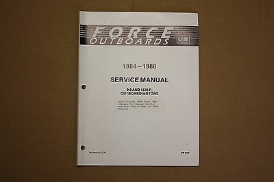 FORCE OUTBOARD 9.9 &15 hp SERVICE MANUAL