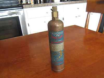 ANTIQUE FIRE EXTIGUISHER SMALL MIGHTY MIDGET STOP FIRE