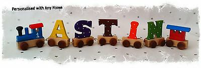 PERSONALISED Train Carriage Letters | Boys Name Custom Christening Gifts Wooden
