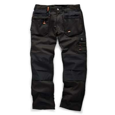 SCRUFFS WORKER PLUS Trousers Combat Cargo Work Pants BLACK (TRADE PRO VINTAGE)