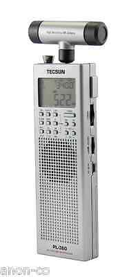TECSUN PL360 PLL DSP Radio with ETM FM / AM/ MW / SW + External AM Antenna