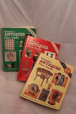 3 Schroeders Antiques Price Guide 1987/1988/1993 FC
