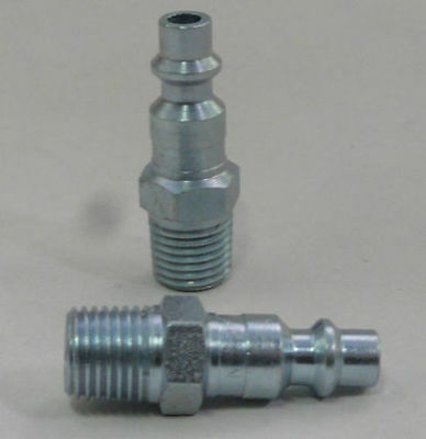 "MILTON 727 Air line hose fitting nipple M style 1/4"" male NPT thread"