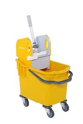 Heavy Duty Kentucky Mop Bucket With Strong Wringer - 25 L - Yellow