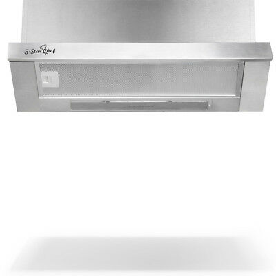 5 Star Chef Rangehood Range Hood Stainless Steel Kitchen Canopy 60cm 600mm