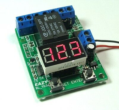 12V relay board / counter / countdown trigger / voltmeter detection control