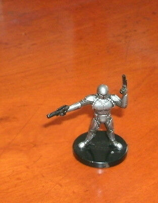 Mandalorian Soldier Star Wars  Bounty Hunters Miniatures #58/60 - NC