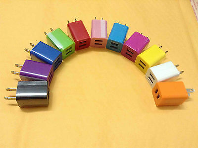 Dual USB Port AC Home Wall Charger Adapter 2A For iPad4 iPhone Samsung Wholesale