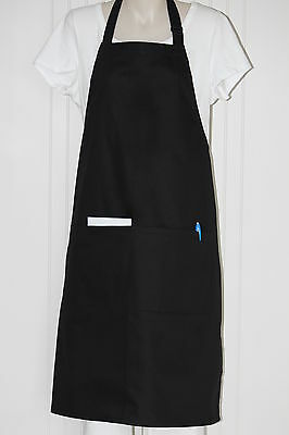 APRON FULL BIB (BLACK)  - With 2 Front Pockets