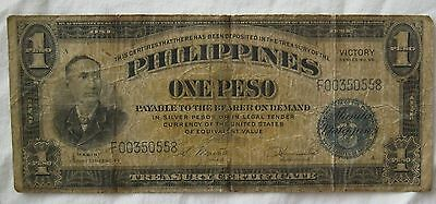 US Philippines 1944 $1 One Peso Treasury Certificate Series 66 VICTORY