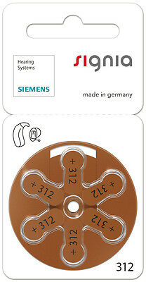 120xSiemens Piles auditives pile bouton Hearing AidType de batterie 312 PR41 ZL3