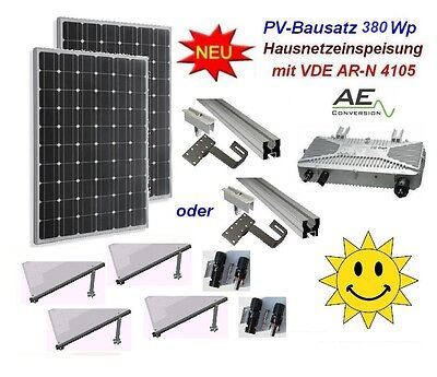 mini hausanlage 260 watt komplett solar pv photovoltaik anlage mit vde ar n 4105. Black Bedroom Furniture Sets. Home Design Ideas