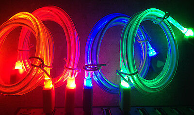 """39"""" LED GLOW light charger cable FOR apple iphone 6 5 4S galaxy s3 s4 micro usb"""