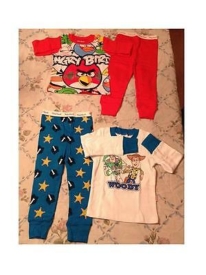 Baby Toddler Kids Clothes Pajamas Boy Girl 2T-7T Angry Bird Toy Story Woody /buz