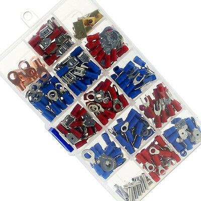 300Pcs Assorted Insulated Electrical Wire Terminals Connector Crimp Spade Set
