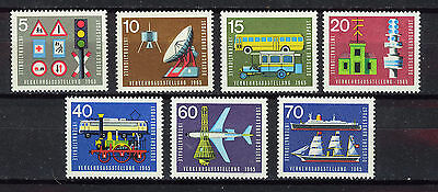 ALEMANIA/RFA WEST GERMANY 1965 MNH SC.919/925 Transport and comunications