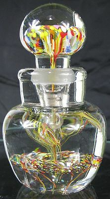 Incredible Vintage 1860's Inkwell Paperweigh Open Pontil Art Glass