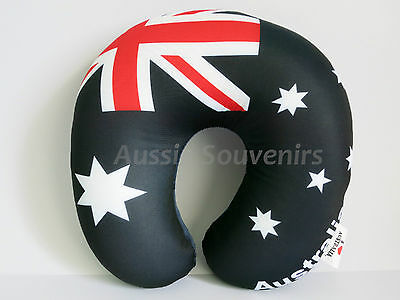Australian Souvenir Travel Pillow - Australian Flag Design! Australia Navy Blue
