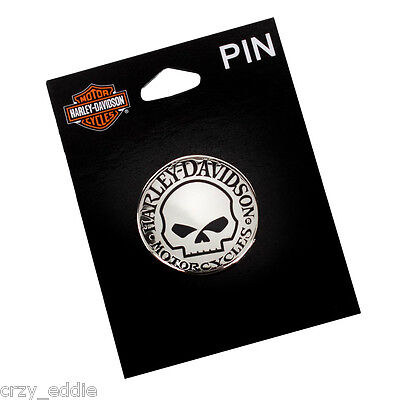 Harley Davidson Willie G  Death Skull Vest Pin  Hubcap Motorcycle Pin