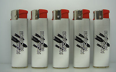 Social Distortion Red Top Band Logo Cigarette Lighters Set Of 5