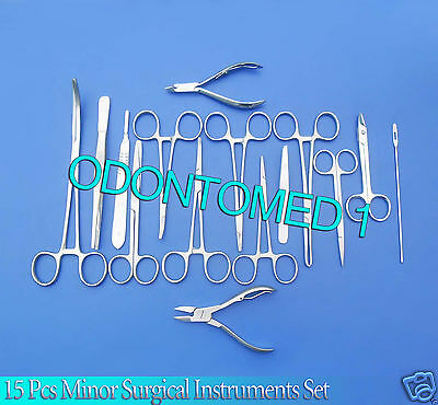 Minor Surgical Instrument 15 Piece Tool Set Ds-762