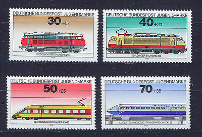 ALEMANIA/RFA WEST GERMANY 1975 MNH SC.B517/B520 Locomotives trains
