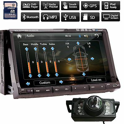 "Camera+ 7"" Car DVD Player GPS Navigation 3D Bluetooth Stereo Radio Touch Screen"