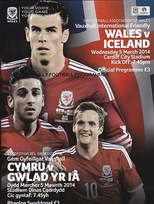 * WALES v ICELAND (INTERNATIONAL FRIENDLY - 5th March 2014) *