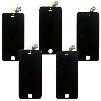 Lot 5x Black Replacement LCD Touch Screen Digitizer Assembly For iPhone 5G