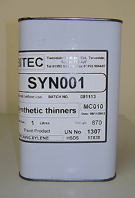 Synthetic Thinner 1L For Paint And Primer 1 Litre Fast Air Dry Thinners FP