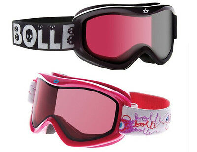 BOLLE VOLT KIDS GOGGLES BLACK OR PINK VERMILLION ALL AGES 6+ SNOWBOARD SKI NEW