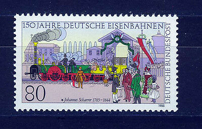 ALEMANIA/RFA WEST GERMANY 1985 MNH SC.1450 Foundation of German railways