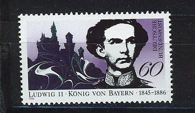ALEMANIA/RFA WEST GERMANY 1986 MNH SC.1460 King Ludwig ll of Bavaria