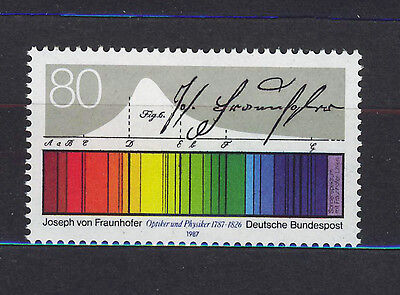 ALEMANIA/RFA WEST GERMANY 1987 MNH SC.1501 J.Fraunhofer,optican physicist