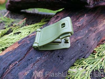 GREEN POM WEBBING MOLLE STRAP BUCKLE LOAD CARRIAGE/ATTACHMENT BUSHCRAFT SURVIVAL