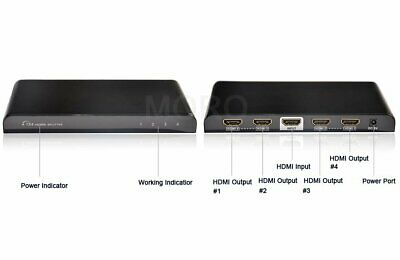 3D 1 IN 4 OUT HDMI Splitter Duplicator Extender 4K*2K 1080P For Foxtel STB HDTV