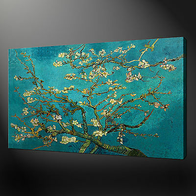 ALMOND TREE VAN GOGH CANVAS WALL ART PICTURES PRINTS 30 x 20 Inch FREE UK P&P