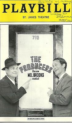 Playbill The Producers St James Theatre Aug 2002 FREE SHIPPING