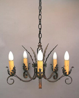 1920s Antique Chandelier Light Vintage Fits Spanish Revival Mediterranean (2718)