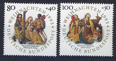 ALEMANIA/RFA WEST GERMANY 1993 MNH SC.B756/B757 Christmas