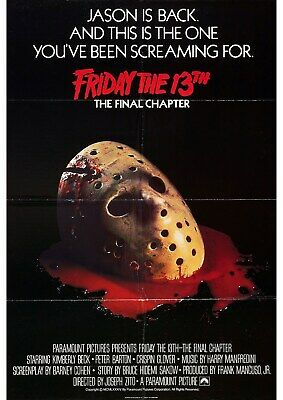 Friday 13th Part 4 - Jason Voorhees - Crispin Glover - A4 Laminated Mini Poster