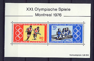 ALEMANIA/RFA WEST GERMANY 1976 MNH SC.B532 Olympic Games Montreal