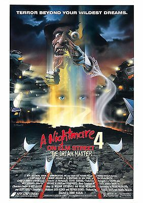 A Nightmare On Elm Street 4 - The Dream Master - A4 Laminated Mini Poster