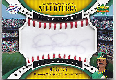 2007 SWEET SPOT CLASSIC SIGNATURES DENNIS ECKERSELY AUTO / AUTOGRAPH # 20/125