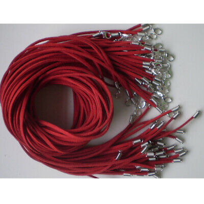 Wholesale 10pcs Red Suede Leather String 20 inches Necklace Cords