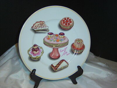 Beautiful 10inch Collectors Plate Limoges 1996, Cakes and Pies, No Chips