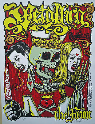 Metallica Concert Poster 2004 Signed/Numbered by Michael Michael Motorcycle